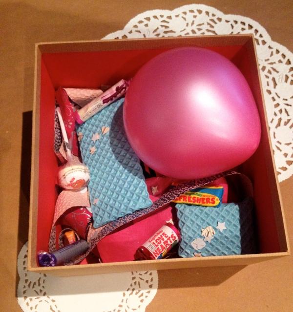 Birthday box inside