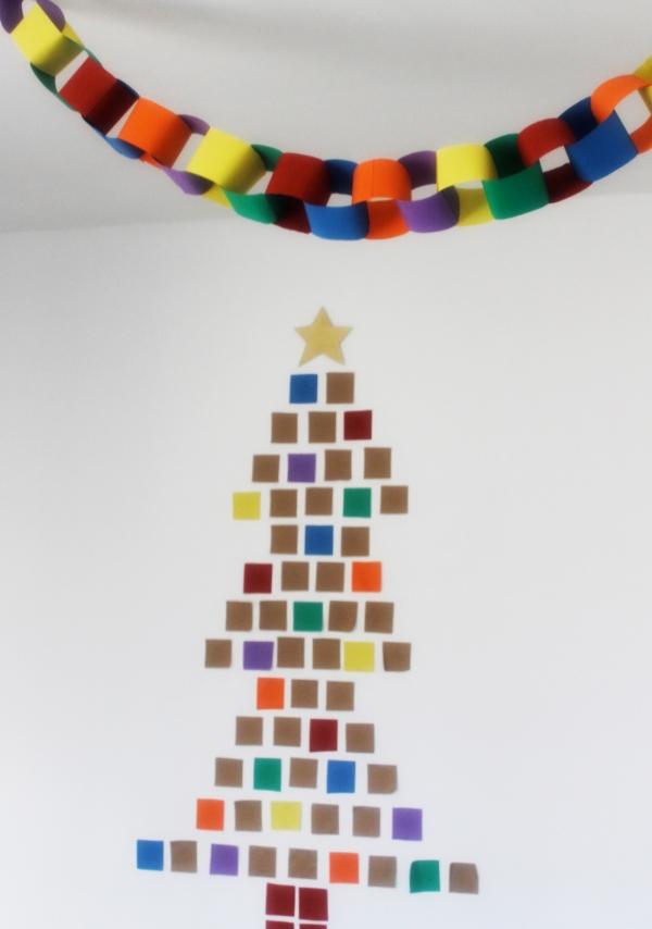paper square Christmas tree