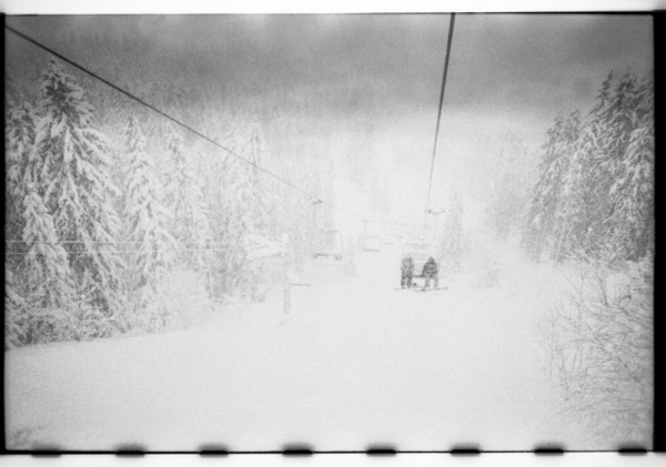 Ski Lift Lomo Snowboard Snow Winter  by Julien PETRY