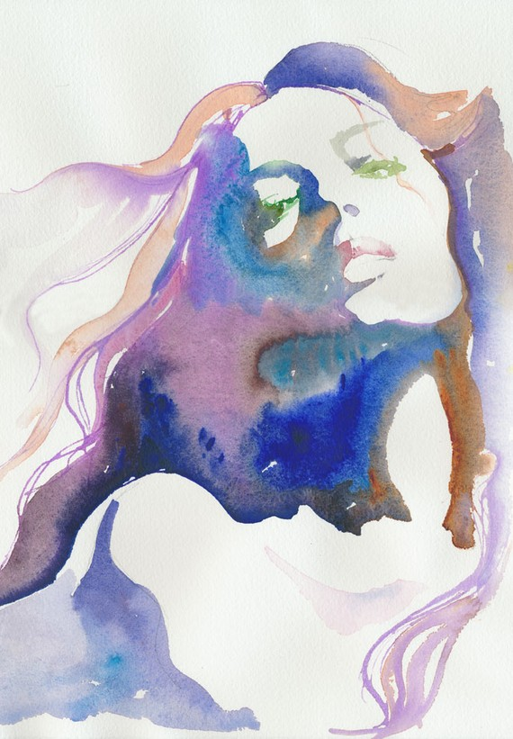 Watercolor Painting, fashion Illustration