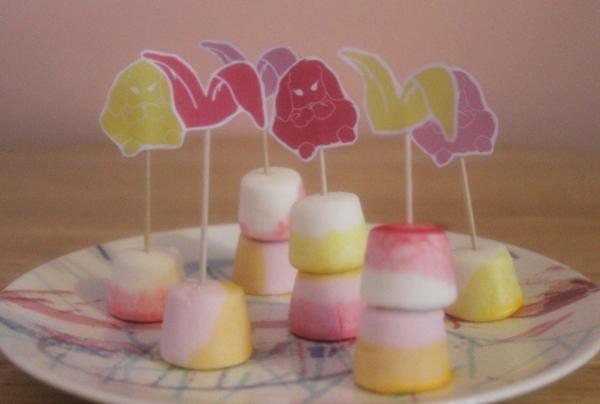 Easter bunny marshmallow DIY
