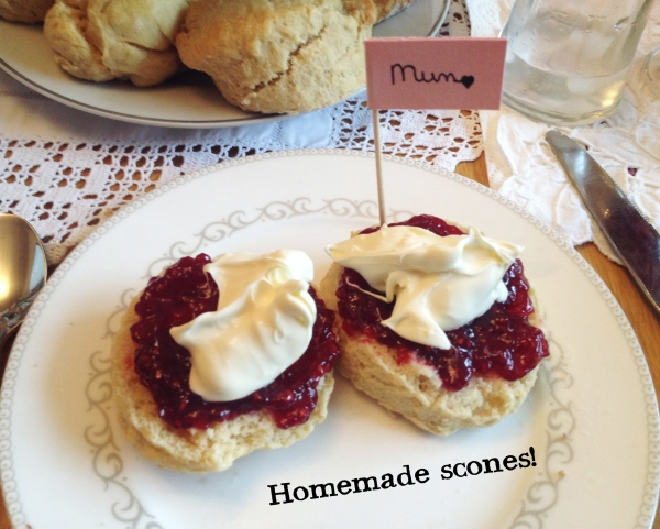 Mother's Day afternoon tea and scones