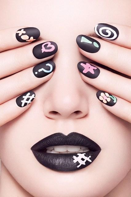 CIATE Chalkboard manicure