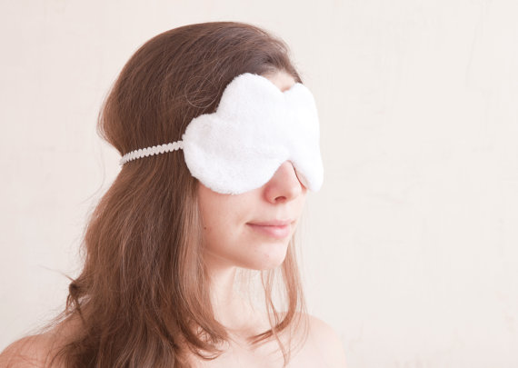 white cloud sleep mask