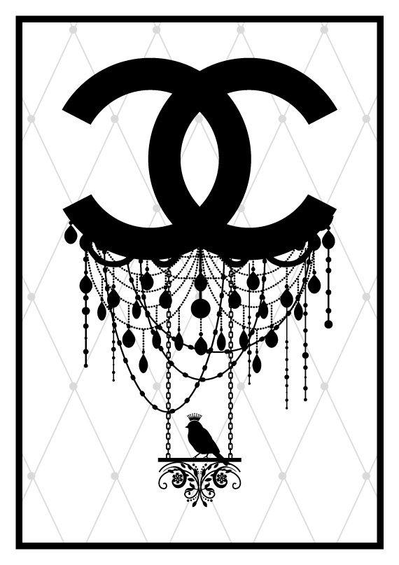 Coco Chanel art print - logo fashion poster