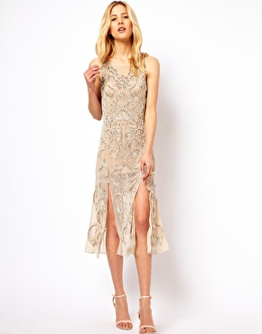Needle & Thread Lunar Midid Dress