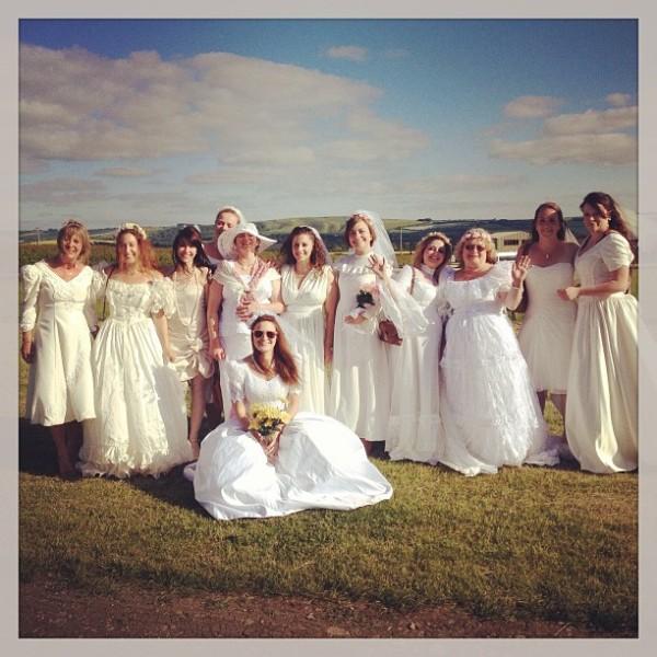 wedding dress hen do