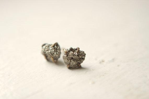 rough-peruvian-pyrite-prong-set-earrings